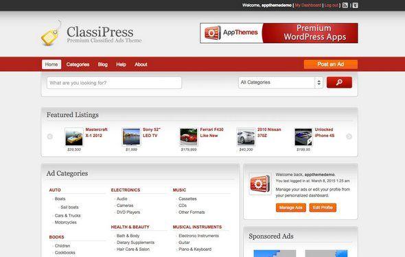 ClassiPress - WordPress Classified Ads Theme