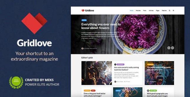 Gridlove WordPress Theme Free Download