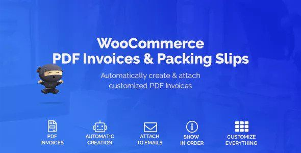 woocommerce pdf invoices & packing slips nulled