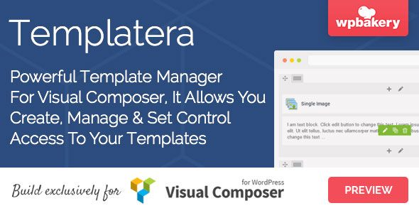 Templatera Nulled - Template Manager for WPBakery Page Builder