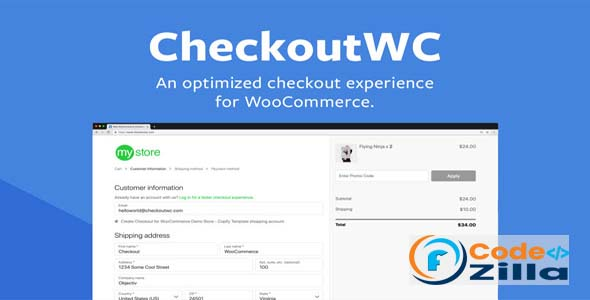CheckoutWC Nulled v6.0.5 - Checkout Plugin for Woocommerce