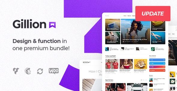 Gillion v3.7.4 Nulled - Multi-Concept Blog/Magazine & Shop WordPress AMP Theme
