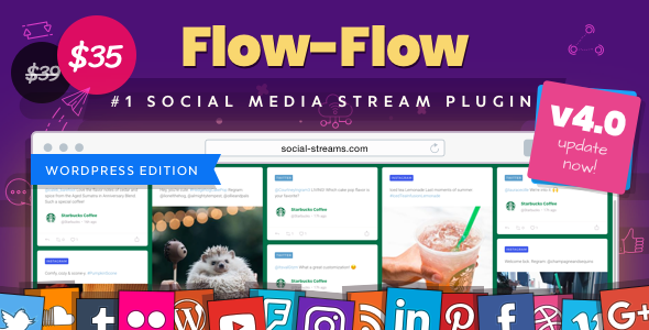 Flow-Flow v4.6.3 Nulled - WordPress Social Stream Plugin