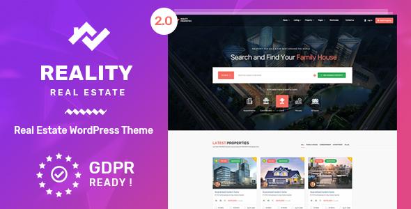 Reality WordPress Theme Free Download