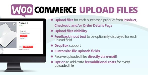 woocommerce upload files free download