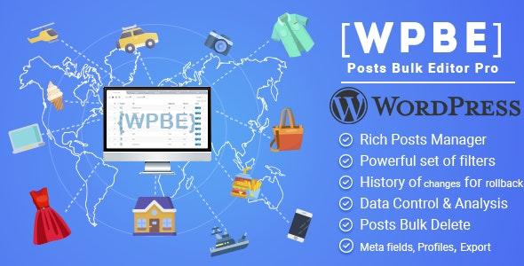 WordPress Posts Bulk Editor Professional Free Download
