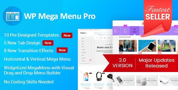 WP Mega Menu Pro WordPress Plugin Free Download