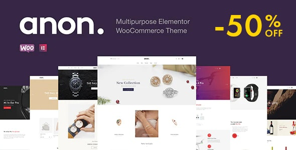 Anon – Multipurpose Elementor WooCommerce Themes Nulled