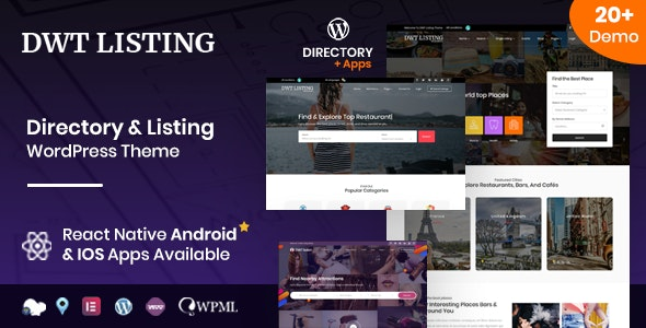DWT Listing Nulled – Directory & Listing WordPress Theme Free Download