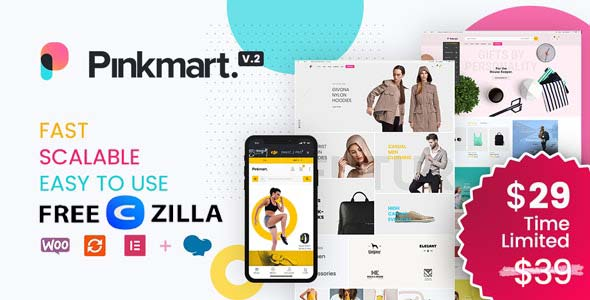 Pinkmart Nulled – AJAX theme for WooCommerce Free Download