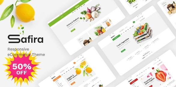 Safira v1.0.8 - Food & Organic WooCommerce WordPress Theme