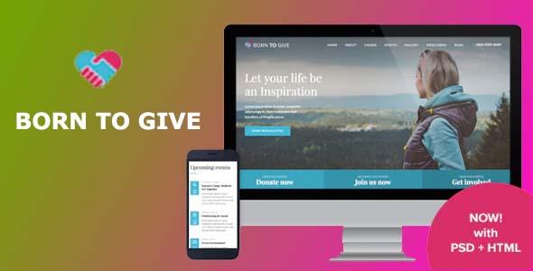 Born To Give WordPress Theme Free Download