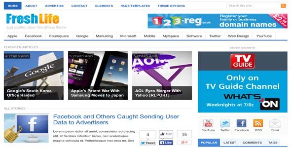 Download Freshlife - WordPress Blog/Magazine Theme