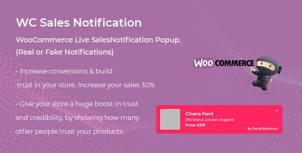 WooCommerce Live Sales Notification Pro WordPress Plugin Free Download
