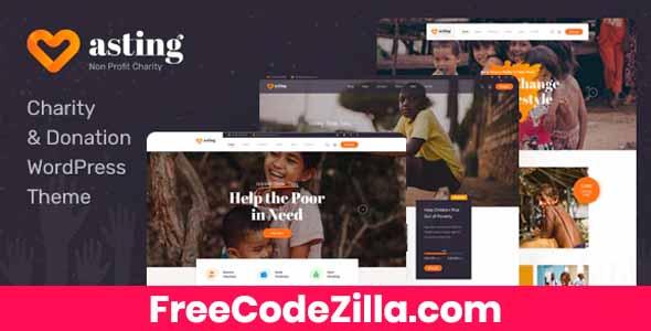 Asting – Charity & Donation WordPress Theme Free Download