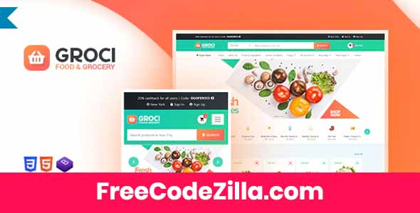 Groci – Organic Food and Grocery Market WP Theme Free Download