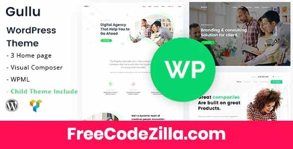 Gullu – Creative Digital Agency & Multipurpose Theme Free Download