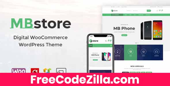 MBStore – Digital WooCommerce WordPress Theme Free Download