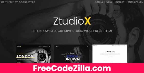 Ztudio X – Photography WordPress Theme Free Download