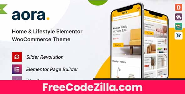 Aora - Home & Lifestyle Elementor WooCommerce Theme Free Download