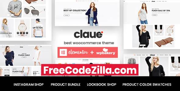 Claue - Clean, Minimal Elementor WooCommerce Theme Free Download
