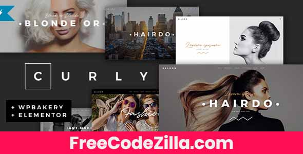 Curly - A Stylish Theme for Hairdressers and Hair Salons Free Download