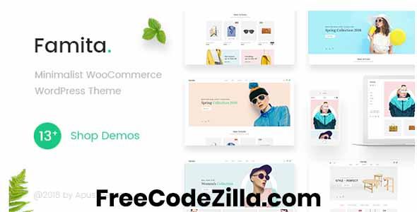 Famita – Minimalist WooCommerce WordPress Theme Free Download