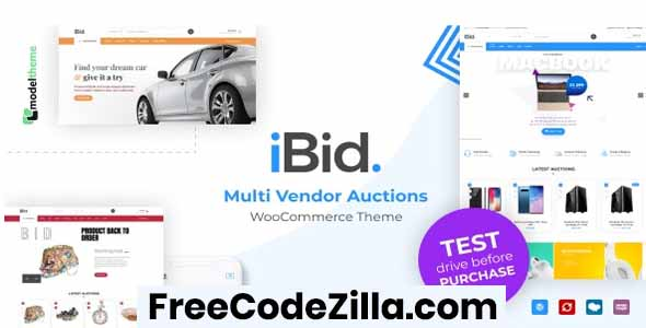 iBid – Multi Vendor Auctions WooCommerce Theme Free Download