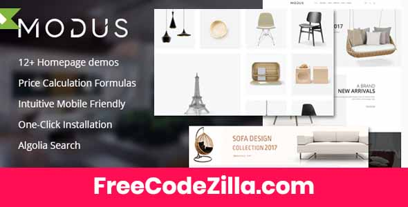 Modus – Modern Furniture WooCommerce Theme Free Download