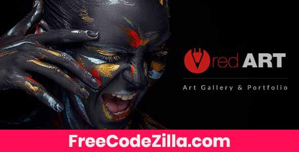 Red Art - Artist Portfolio WordPress Theme Free Download