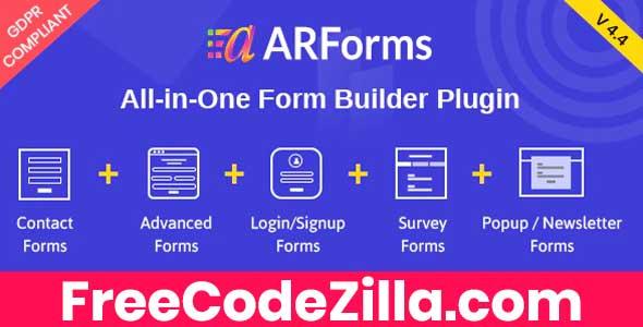 ARForms - Wordpress Form Builder Plugin Free Download