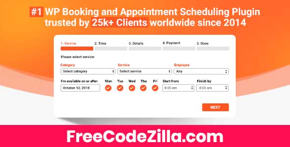 Bookly Pro + Addons – Appointment Booking and Scheduling Free Download