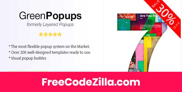 Green Popups - Popup Plugin for WordPress (formerly Layered Popups) Free Download