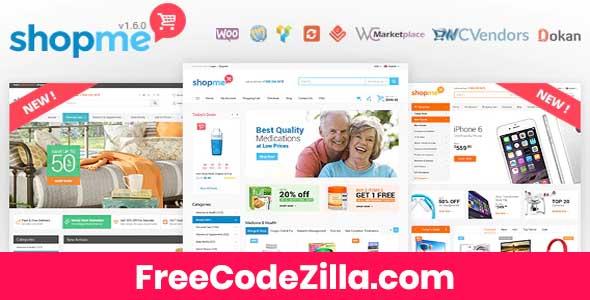 ShopMe - Multi Vendor Woocommerce WordPress Theme Free Download