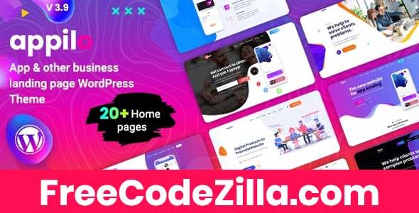 Appilo – App Landing Page WordPress Theme Free Download