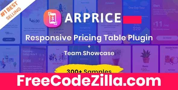 ARPrice Nulled - WordPress Pricing Table Plugin