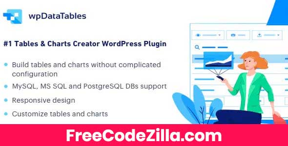 wpDataTables + Addons – Tables and Charts Manager for WordPress Free Download