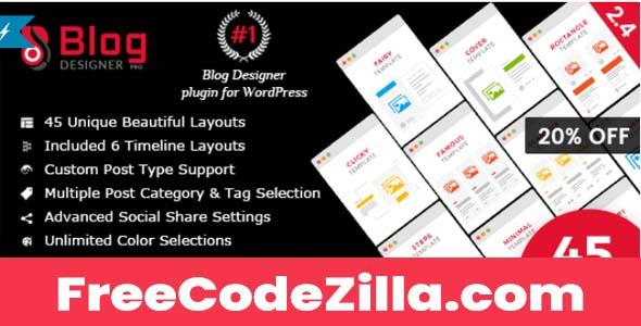 Blog Designer PRO for WordPress Nulled