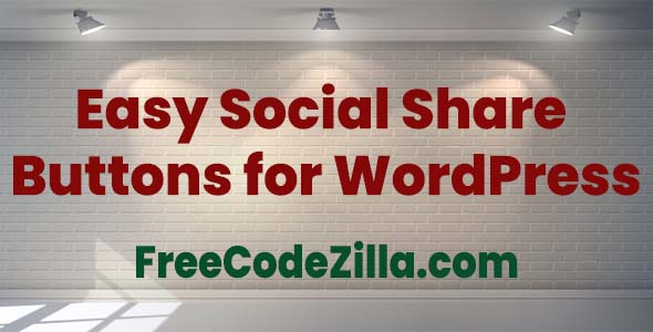 Easy Social Share Buttons for WordPress Free Download