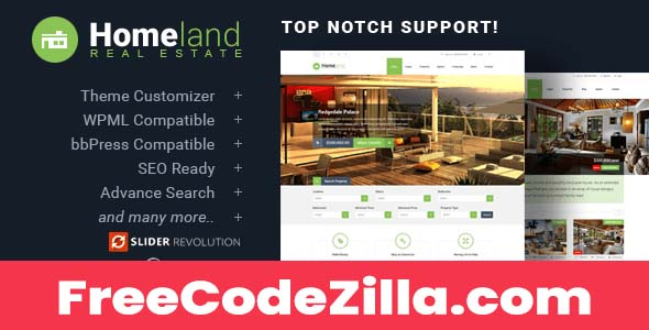 Homeland Nulled – Responsive Real Estate Theme