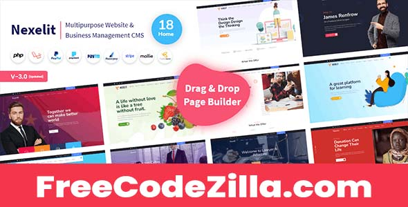 Nexelit Nulled – Multipurpose Website & Business Management System CMS