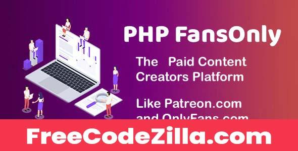 PHP FansOnly Patrons - Paid Content Creators Platform