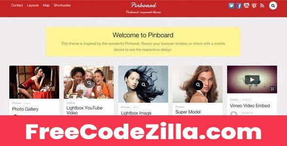 Pinboard – Responsive Pinterest WordPress Theme Free Download