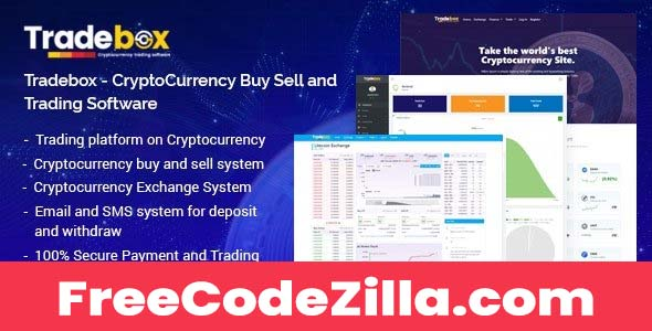 Tradebox Nulled – CryptoCurrency Buy Sell and Trading Software