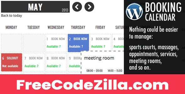 WP Booking Calendar WordPress Plugin