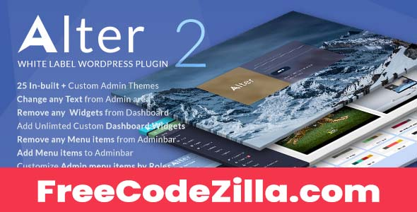 WpAlter Nulled – White Label WordPress Plugin Free Download