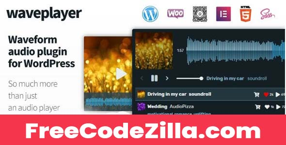 WavePlayer Nulled – Waveform Audio Player for WordPress and WooCommerce