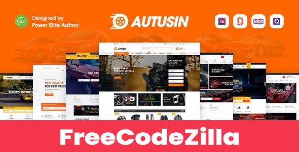 Autusin v2.2.3 Nulled - Auto Parts & Car Accessories Shop Elementor WooCommerce WordPress Theme