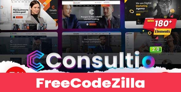 Consultio Nulled v2.7.2 – Corporate Consulting WordPress Theme