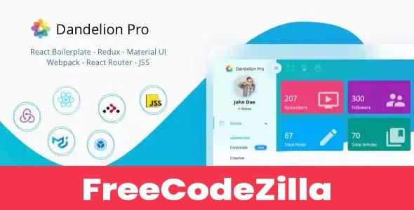 Dandelion Pro – React Admin Dashboard Template